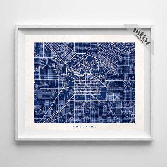 Adelaide Map Print, Australia Map, Australia Art, Adelaide Poster, Wedding Gift, Decor Idea, Home Town, Street Map, Christmas Gift, Wall Art. PRICES FROM $9.95. CLICK PHOTO FOR DETAILS.#inkistprints #map #streetmap #giftforher #homedecor #nursery #wallart #walldecor #poster #print #christmas #christmasgift #weddinggift #nurserydecor #mothersdaygift #fathersdaygift #babygift #valentinesdaygift #dorm #decor #livingroom #bedroom