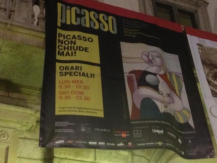 il #webmarketing per vendere #organizzazioneeventi. Incoming a Milano per vedere la mostra di Picasso.