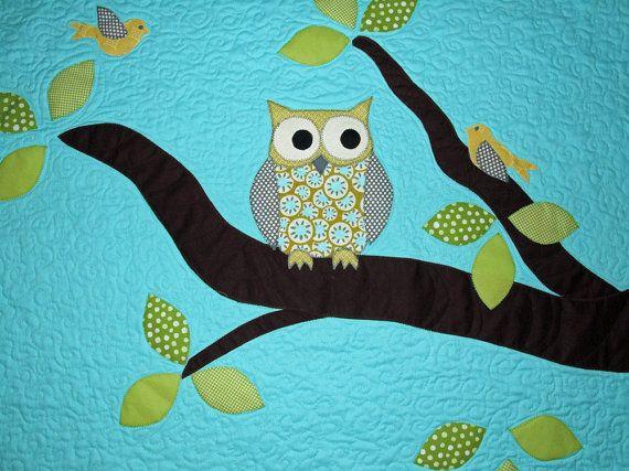 11 best Owl Quilt Ideas for Ava images on Pinterest | Owl quilts ... : owl applique quilt pattern - Adamdwight.com