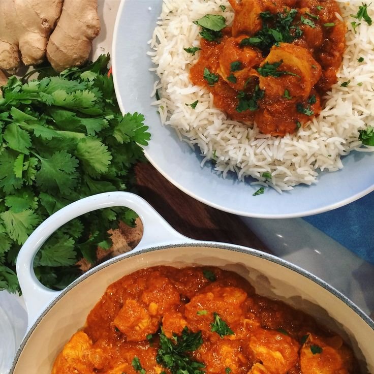 Nadiya Hussain's easy chicken tikka masala with basmati rice