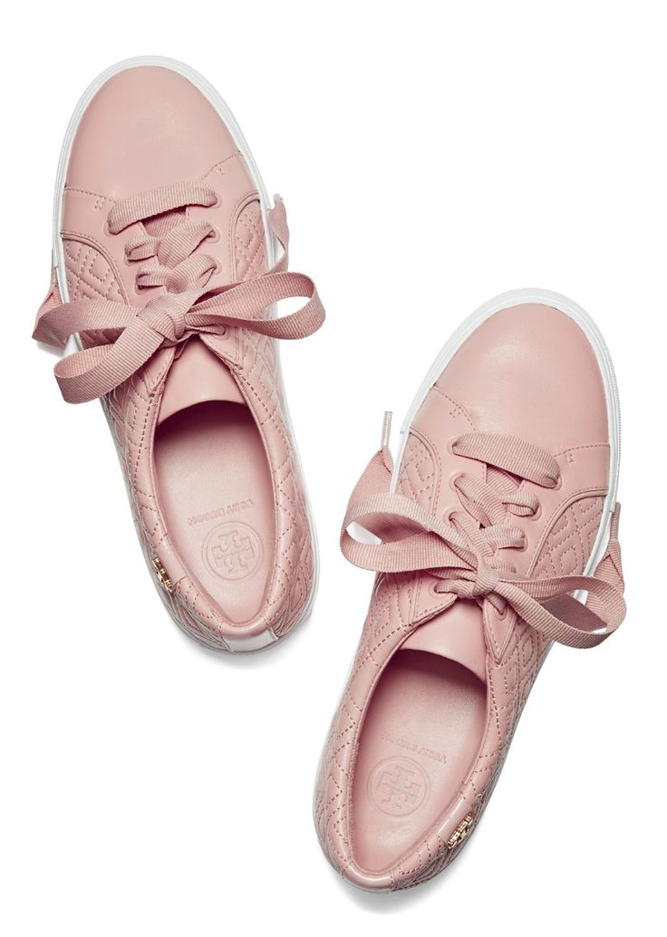 Sporty styling meets intricate detailing on the Tory Burch Marion Quilted Sneaker