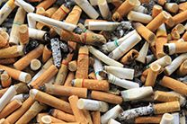 Here's a a solution to cigarette butt pollution - Cigarette butts offer energy storage solution - Scientists at Seoul National University report on pyrolysis processing that transforms cigarette butts into a carbon based energy storage material more effectient than grapheme and carbon nanotubes.