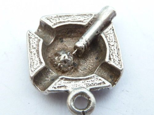 Vintage 925 Sterling Silver Charm Pendant ASHTRAY - Katie:  Seriously...there is more than one.