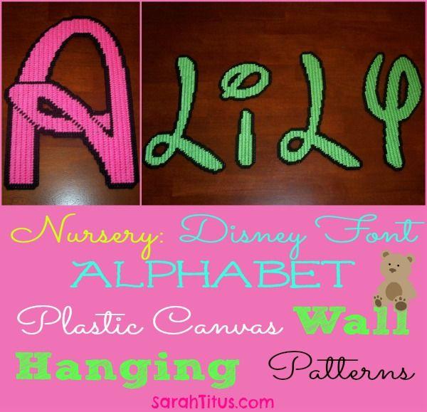 Disney Font Alphabet Plastic Canvas Wall Hanging Letters