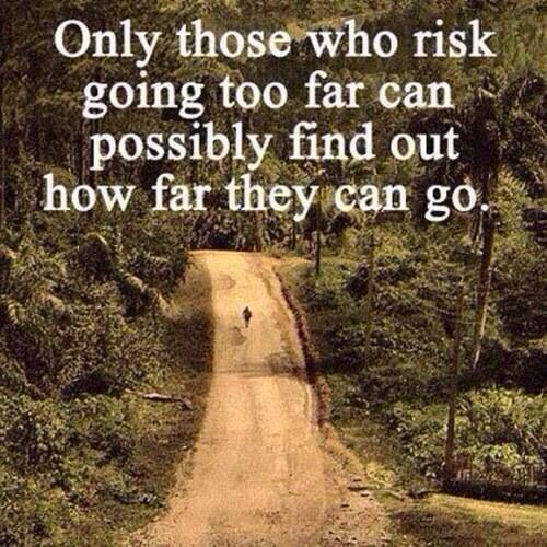 Only those who risk going too far can possibly find out how far they can go.