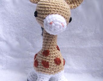 Crochet Baby Giraffe-Toy Giraffe-Amigurumi Giraffe-Crochet Toy-Stuffed Toy Animal-Small Giraffe-Crochet Toys-Stuffed Toys-Toy Gifaffe