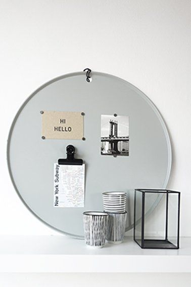 DEENS.NL DEENS.NL XL Magneetbord 'Marie' lichtgrijs