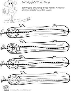 preschool scissors skills worksheet and activity curved lines