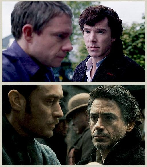 The classic Holmes, 'Okay, yeah I did something kind of appalling but need your friendship very much in my own messed up way, please don't be mad' face.