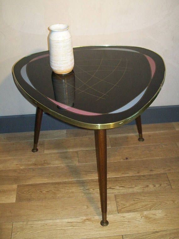 Rare Atomic Vintage Coffee Table Retro Tripod Mid Century Modern 1950's 1960's 1970's Rockabilly Furniture Decoration Interior Design Home