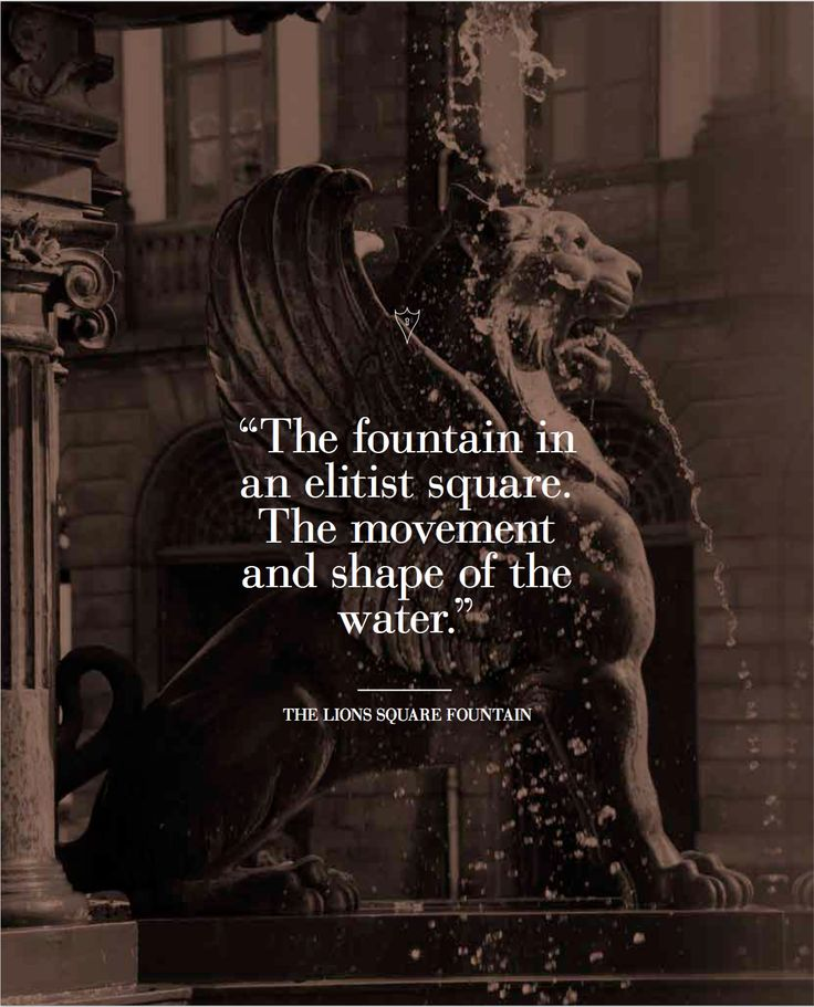 The Lion's Square Fountain | Inspiration