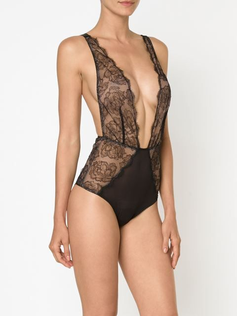 rose lace bodysuit