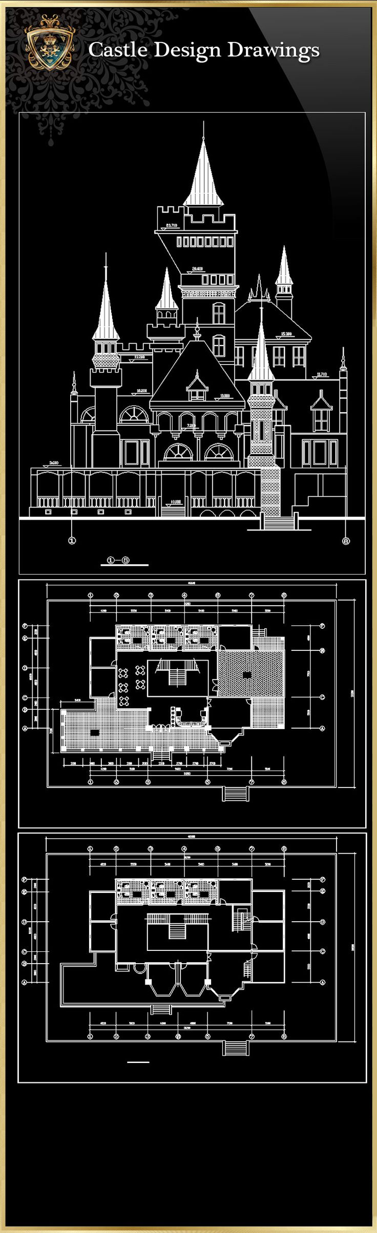☆【Castle Design 1】Download Luxury Architectural Design CAD Drawings  Over  20000