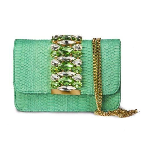 Borsa modello St.Barth (medium) patta longuette wips verde – Emanuela Caruso Capri