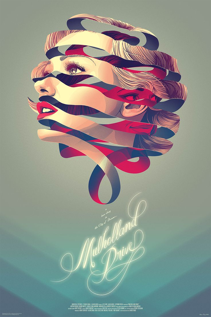 3d poster design online - Mondo Poster Premiere Kevin Tong S Gorgeous Mulholland Drive Movie News Movies