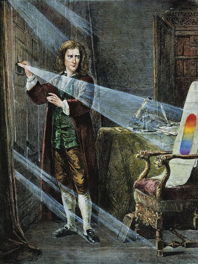 Sir Issac Newton also made seminal contributions to optics and shares credit with Gottfried Leibniz for the invention of the infinitesimal calculus.    ..