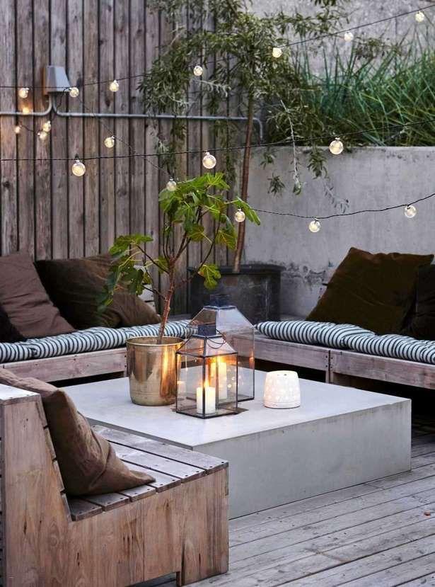 Chillecke Garten Diy Terrasse Raum Im Freien Hinterhofbeleuchtung