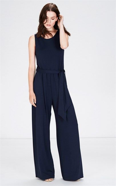 Jumpsuits are HUGE this season! Shop the trend and get the Warehouse Wide Leg Jumpsuit Navy from Ozsale. Price was $126 and is now $35.