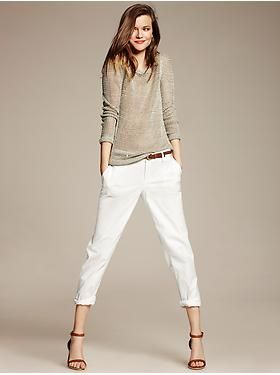 Banana Republic:  Heritage Metallic Pullover + Roll-Up City Chino / California Collection / Spring 2014