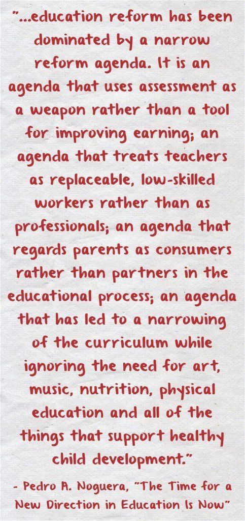 "Pedro Noguera -- Reformers Using ""Assessment As A Weapon"""
