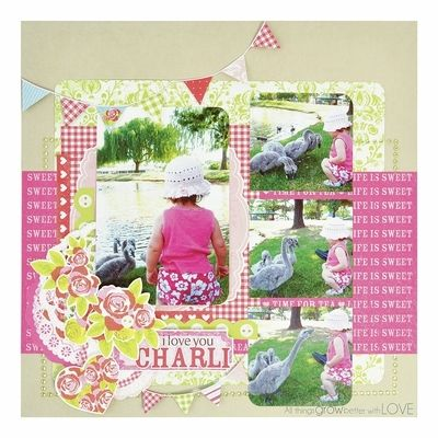 This layout used products from the new Tea Party collection from KaiserCraft. Created by KaiserCraft design team.