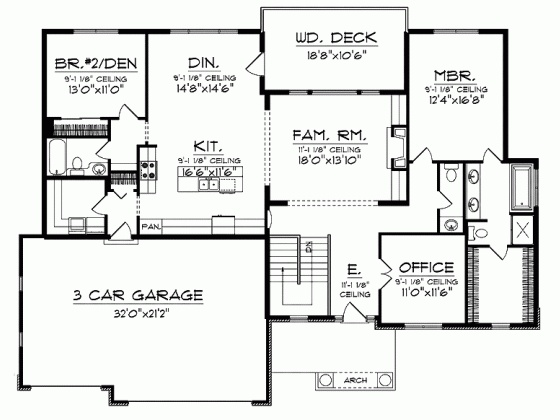 85 best 1800 to 2500 sq ft floor plans images on pinterest for 1800 sq ft bungalow floor plans
