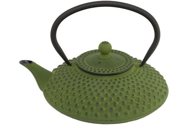 Bredemeijer asiatische Teekanne Gusseisen Jing 1,25 ltr. grüne Noppenstruktur - Haushalt Trinken