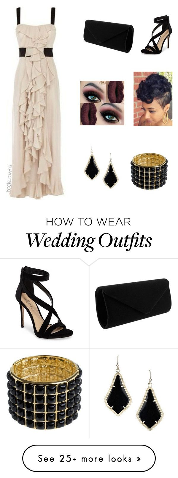 """A Wedding Guest"" by irockcrowns on Polyvore featuring Karen Millen, Imagine by Vince Camuto, Kendra Scott and Kenneth Jay Lane"