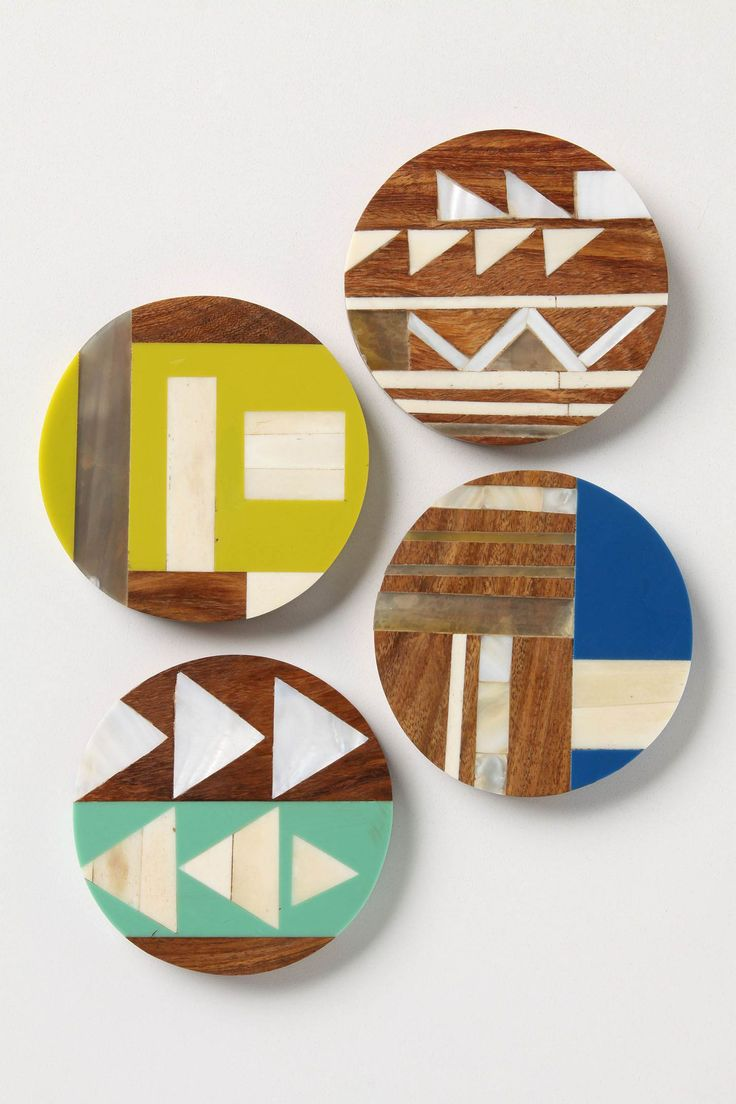 best muse  coasters images on pinterest  coaster design  - geometric wood coasters