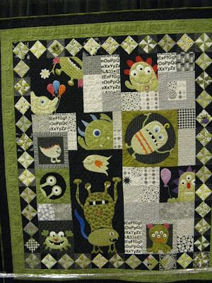 """Ann L. Peterson's award winning quilt  """"Peek A Boo Monsters"""""""