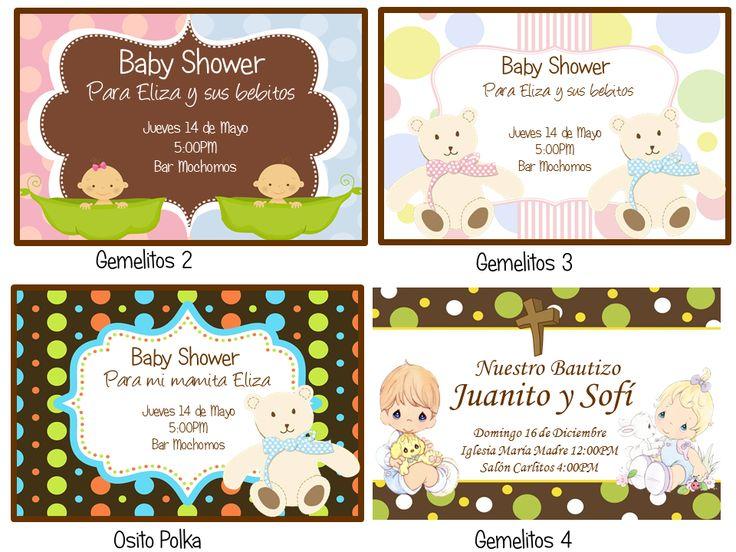 Invitaciones, Recuerdos, Baby Shower, Kit Imprimible   $ 160.00 En  MercadoLibre