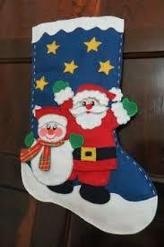 Resultado de imagem para botas de natal em feltro