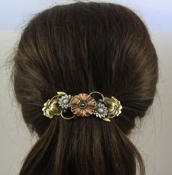 "** ""Flowers"" French Barrette @PINSwithPERSONALITY"