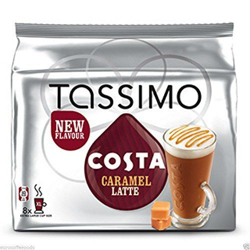 Tassimo Coffee T Discs - T-disc - Capsules - Pods - 44 Flavours To Choose From - Costa Latte Caramel - http://hotcoffeepods.com/tassimo-coffee-t-discs-t-disc-capsules-pods-44-flavours-to-choose-from-costa-latte-caramel/