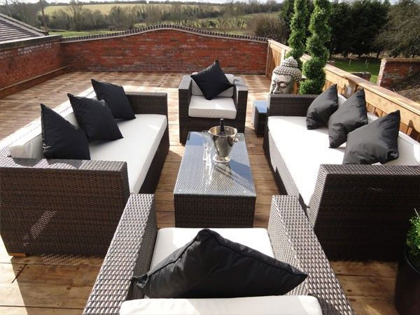 Trade Assurance Aluminium Garden Furniture Outdoor Rattan Sofa Sets Modern  Sectional Sofa