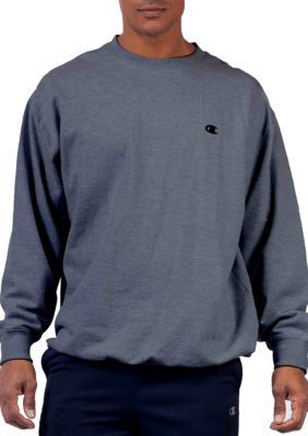 Champion Men's Big And Tall Fleece Crew Neck Shirt - Charcoal/Heather - 4Xlt