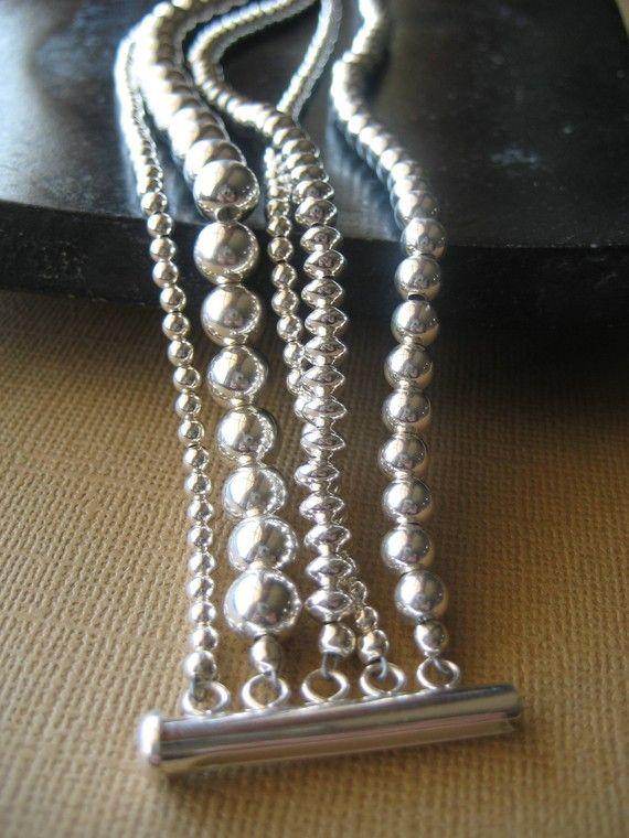 Sterling Silver Bracelet Silver Bracelet by JewelryMadebyMaggie, $298.00