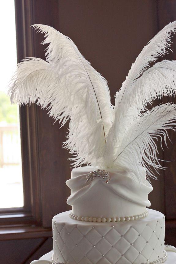 tall wedding cakes york pa | Natalie & Bill's Sparkly White Wedding Cake