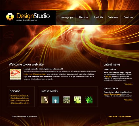 4191 - Web Design & Consulting - Website Templates - DreamTemplate ...