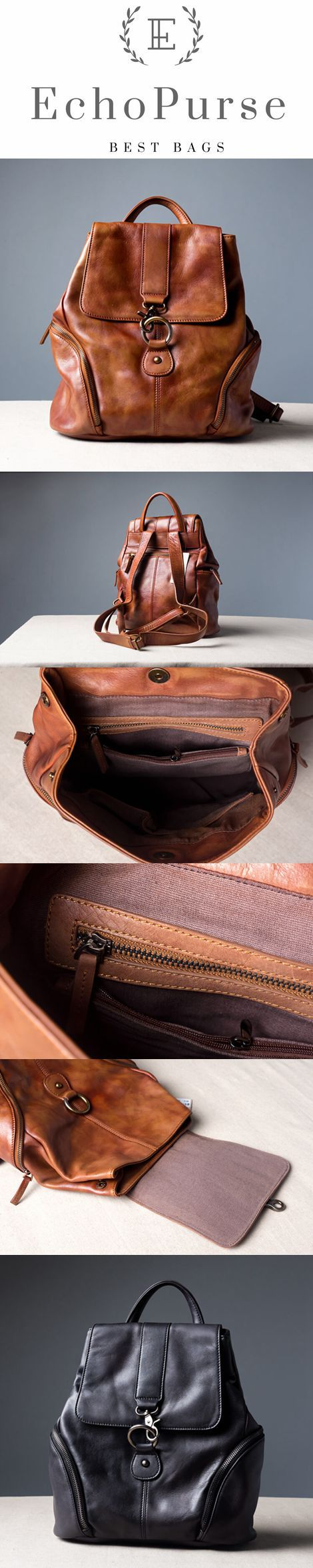 Women's Backpack, Top Grain Leather Handbag, Soft Leather Shoulder Bag SD438