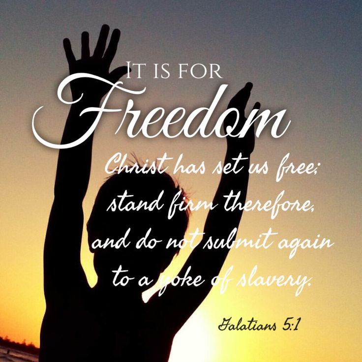 FREEDOM only in Christ