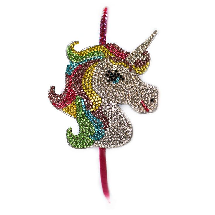 BARI LYNN - Crystal Rainbow Unicorn Emoji Headband