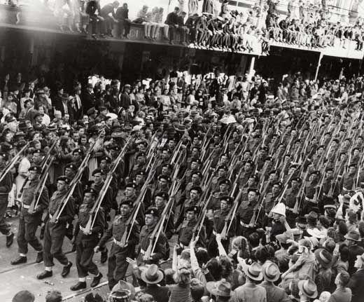 World war two dates in Brisbane