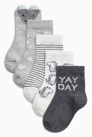 Set van vijf paar verschillende sokken (Jongere jongens)