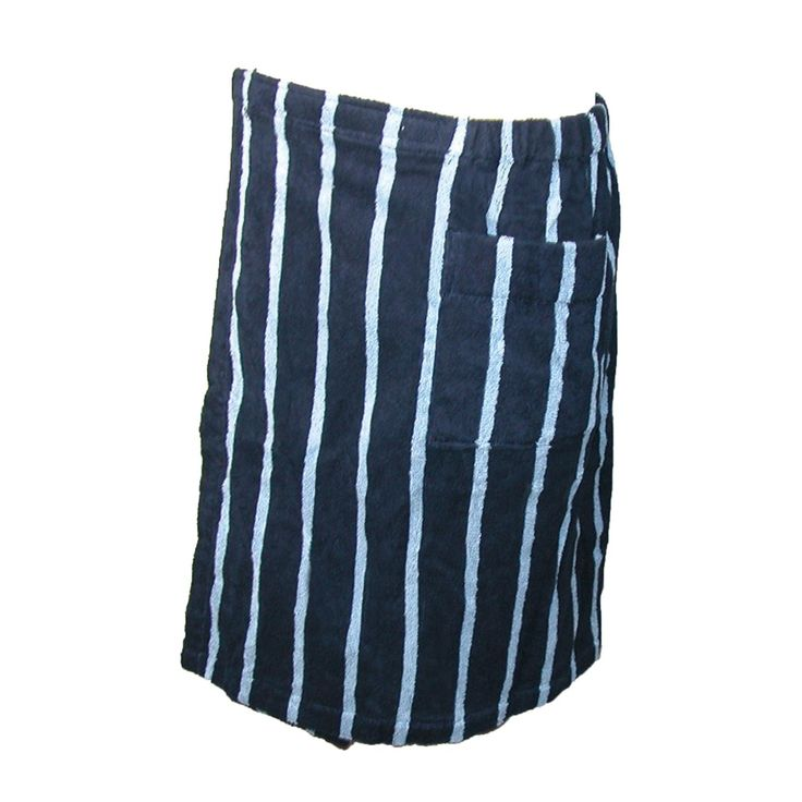 majestic international mens terry cotton striped shower
