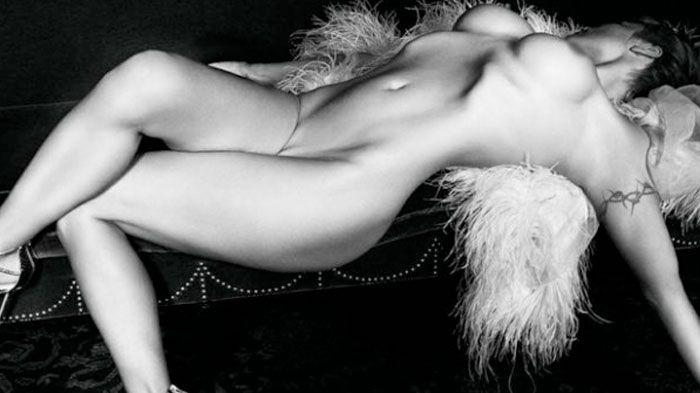 Hairy public nude