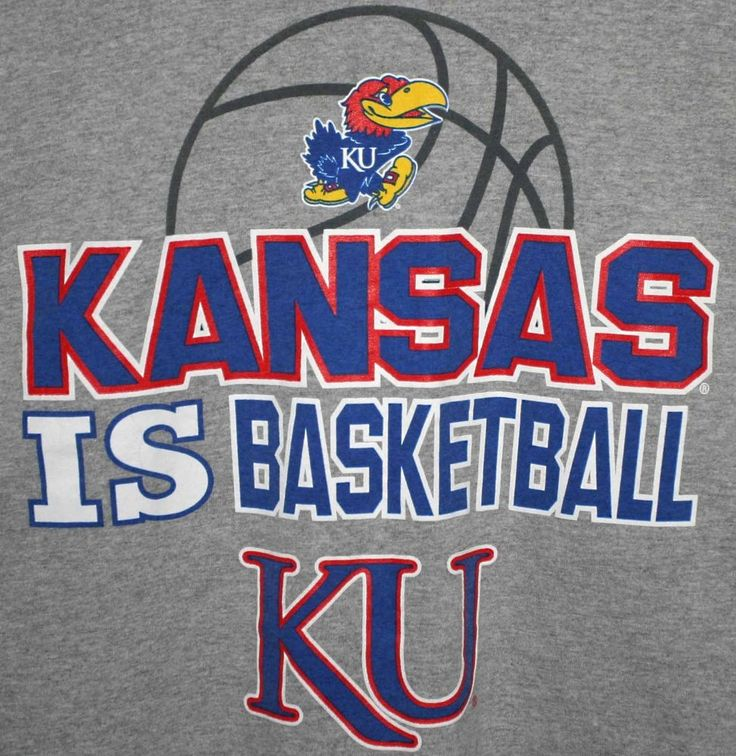 NCAA UNIVERSITY OF KANSAS JAYHAWKS BASKETBALL T-SHIRT Men's Large Gray #GildanUltraCotton #KansasJayhawks