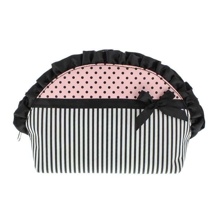 Stripe Ruffle Cosmetics Bag, Cosmetics Bags, Accessories, Schools Out , all, Make Up, Gifts, Room & Gifts, Make Up, Trends, What's Hot, Sleepover Fashion trends, accessories and jewellery for young women
