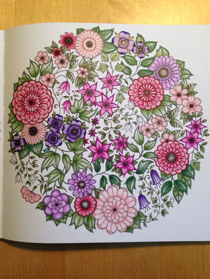 Secret Garden coloring book - Flowers mandala