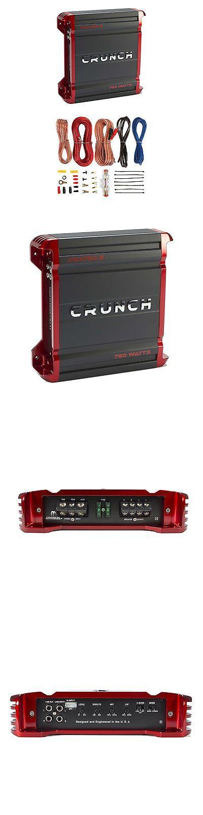 Car Amplifiers: Crunch 750 Watt 2 Channel Powerzone Class A B Car Amplifier + 8 Gauge Wiring Kit -> BUY IT NOW ONLY: $56.95 on eBay!